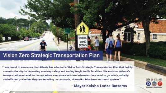 Atlanta City Council adopts Vision Zero, 25 mph default speed limit