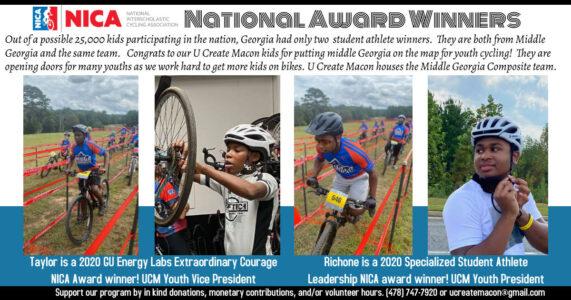U Create Macon student-athletes win national awards